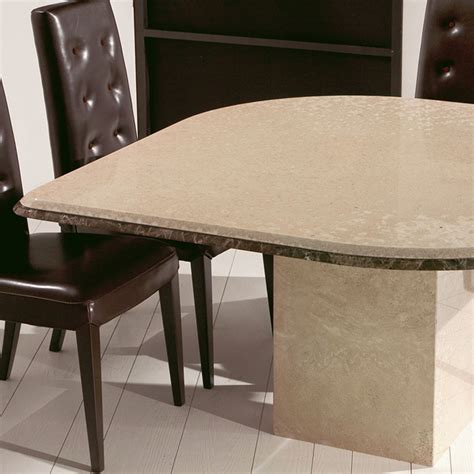 Marble Square Dining Table Libera Travertine Marble Square Dining Table Robson Furniture