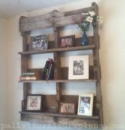 handmade pallet shipping shelves recycled pallet ideas
