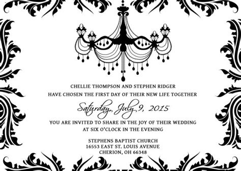 black and white invitations templates wedding invitations template set psd photoshop gimp