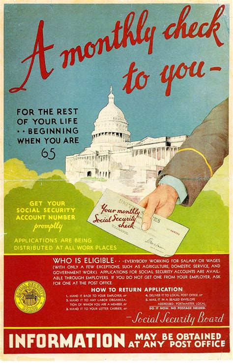 section 207 of the social security act social security early promotional posters social