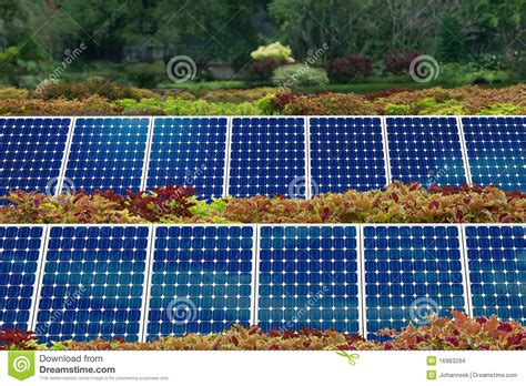 backyard solar panels concept of solar panel garden stock images image 16983294
