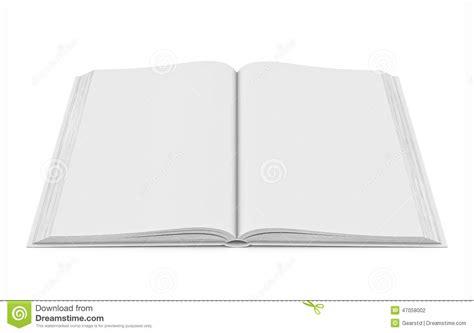 libro espacios en blanco libro abierto del espacio en blanco blanco en el fondo blanco foto de archivo imagen 47058002