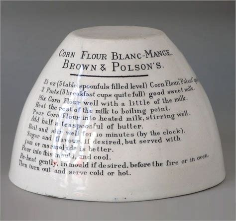 ceramic blancmange mould ceramic jelly mould with recipe for corn flour