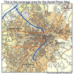 aerial photography map of roanoke va virginia