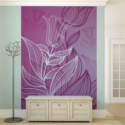 purple flower wall murals wall mural photo wallpaper purple flower drawing 2169ws ebay
