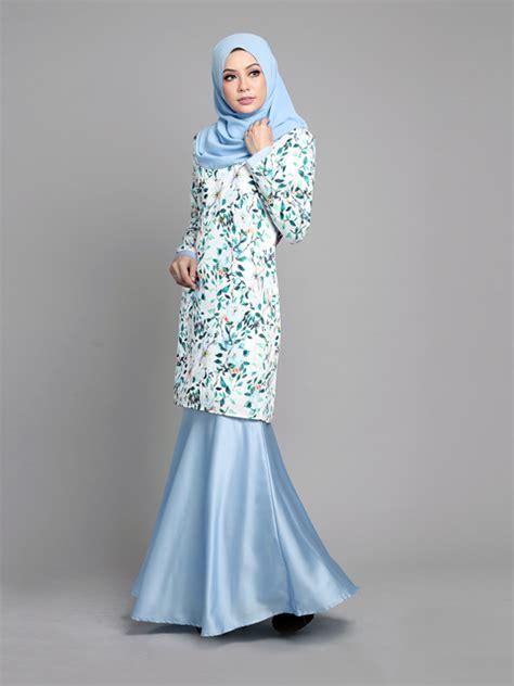 Fashion Baju Bluesky baju kurung moden arielle sky blue lovelysuri