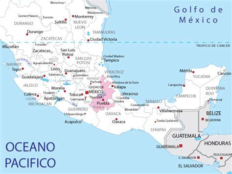 mapa de puebla mexico mapa de puebla estado de puebla mexico pinterest