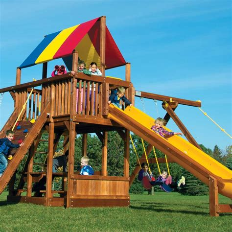 Rainbow Swing Sets by Rainbow Clubhouses Playsets Rainbow Play Systems
