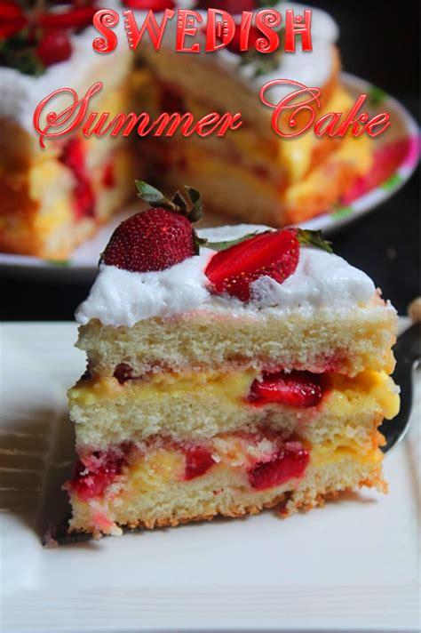 Reader Recipe Swedish Strawberry Cake by Tummy Swedish Summer Cake Recipe Strawberry