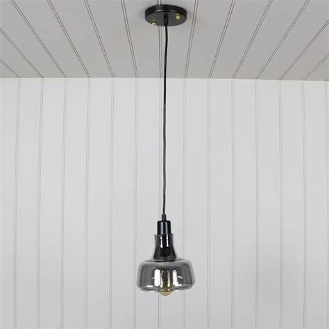 smoked glass pendant light grey smoked glass pendant light melody maison 174