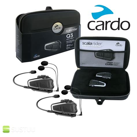 Jual Headset Bluetooth Helmet cardo scala rider q3 multiset motorcycle bluetooth helmet