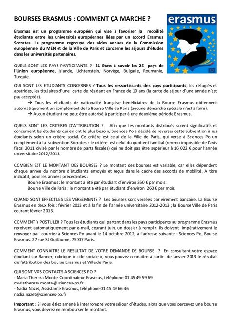 Lettre De Recommandation Erasmus Exploitation Texte A Bourses Erasmus A1