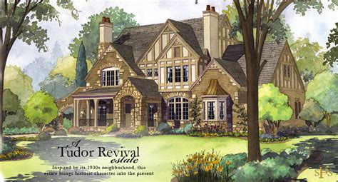 tudor revival house plans stephen fuller designs tudor revival estate