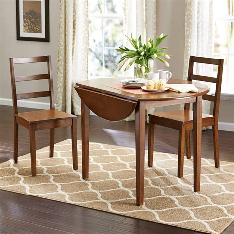 Dining Set With Leaf Dining Table Leaf Mainstays 3 Drop Leaf Dining Set