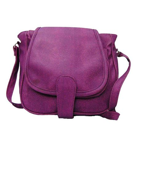 estoss purple designer sling bag buy estoss purple