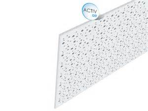 faux plafond acoustique en placo rigitone activ air 174 8 15