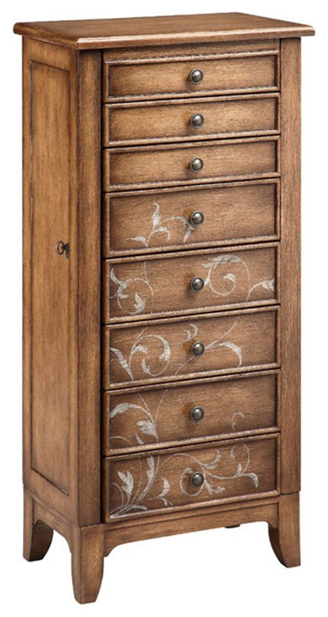 jewelry armoire overstock newell jewelry chest contemporary armoires and