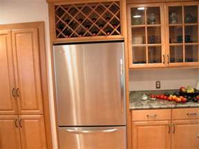 fridge kitchen cabinet wine rack for space the refrigerator remove