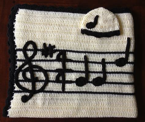 crochet pattern music notes illuminate crochet lullaby baby set