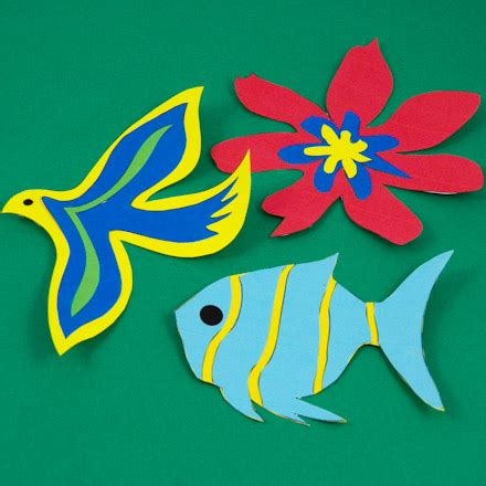 Cut Out Paper Crafts - simple paper cutting techniques decorative crafts