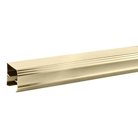 Polished Brass Shower Doors Delta 60 In Sliding Shower Door Track In Polished Brass Sdls060 Pb R The Home Depot