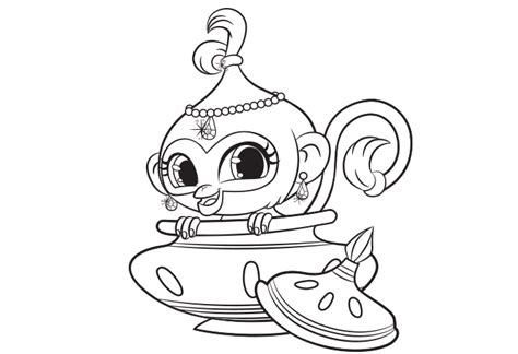 Shimmer and Shine: Tala Colouring Page
