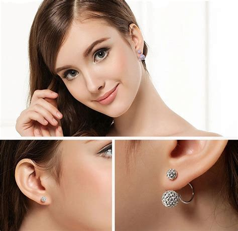 Anting Silver Pearl butterfly earrings white 925 sterling silver