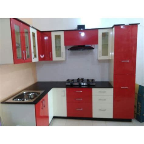White Kitchen Cabinets Price by And White Modular Kitchen Cabinets At Rs 65000 Unit