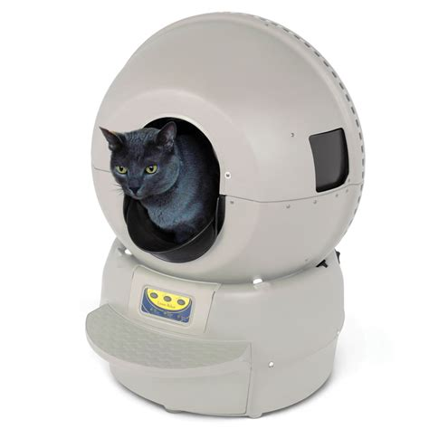 auto litter box the best automatic cat litter box hammacher schlemmer