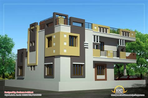Duplex House Plan and Elevation 2878 Sq. Ft. Kerala home design and floor plans