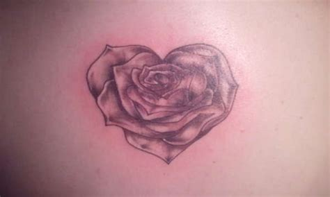 heart shaped rose tattoo shaped www pixshark images