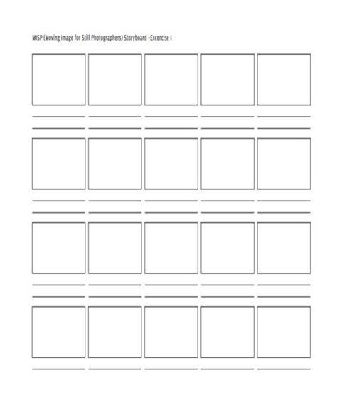 6 photography storyboard templates free sle exle