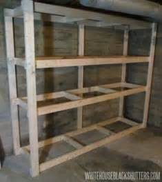 how to make shelving how to make a basement storage shelf