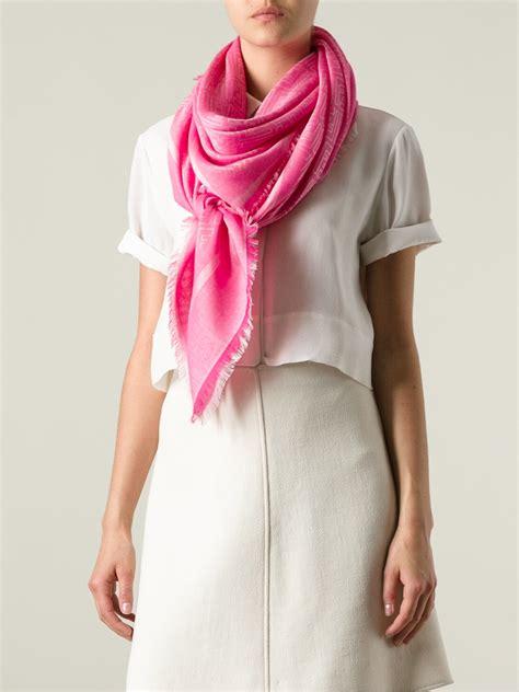 Ck Bandana 1403007 Motif Purple lyst fendi geometric pattern scarf in pink