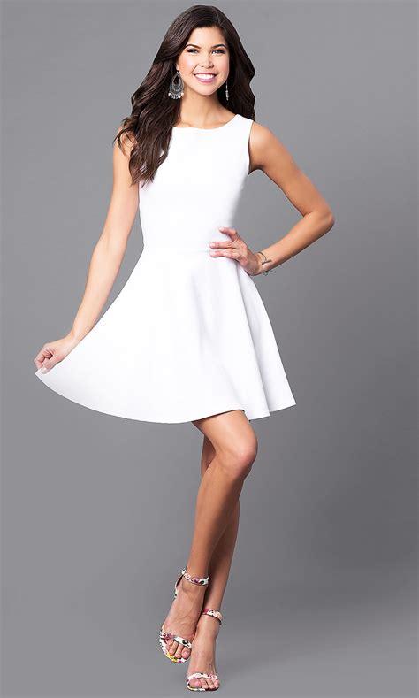 cheap cut  white short party dress promgirl