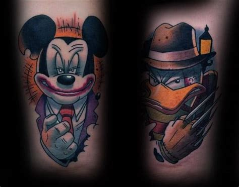 cartoon tattoos donald duck a gangster mickey and donald duck cartoon tattoos
