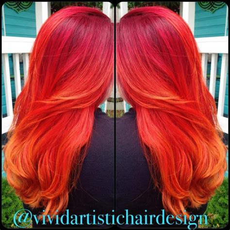 blood hair color 17 best ideas about orange highlights on