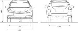 Subaru Outback Width 2010 Subaru Outback Data Sheet Dimensions Motor Image