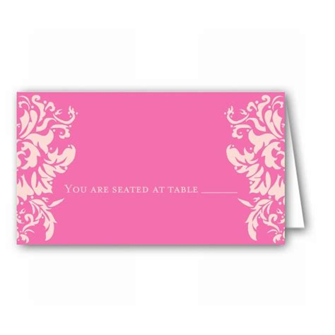 Pink Place Cards laurel pink place cards paperstyle