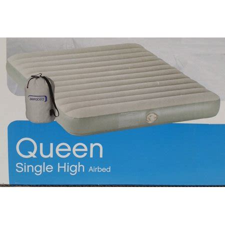 aerobed single high air bed with walmart