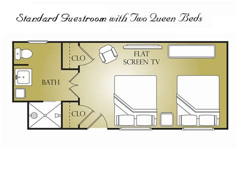 layout of hotel guest room accommodations jefferson inn southern pines nc