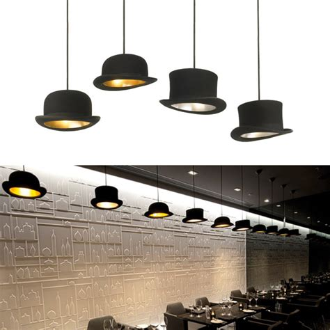 High Hat Light Fixture Jeeves And Wooster Authentic Bowler And Top Hat Pendant Lights The Green