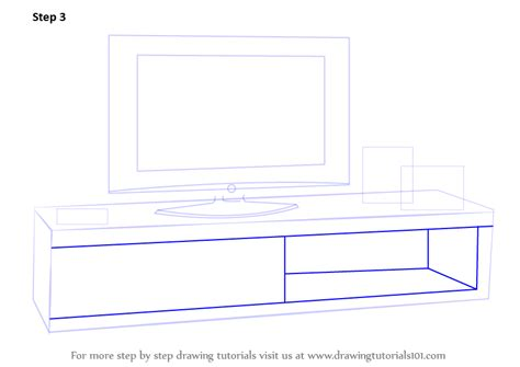 Free Standing Kitchen Furniture learn how to draw tv unit furniture step by step
