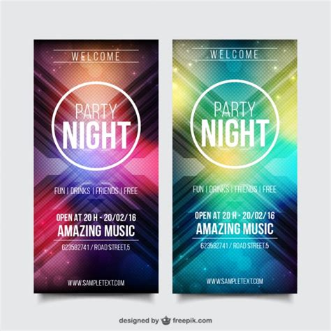 party flyer design kostenlos realistische party flyer template pack download der