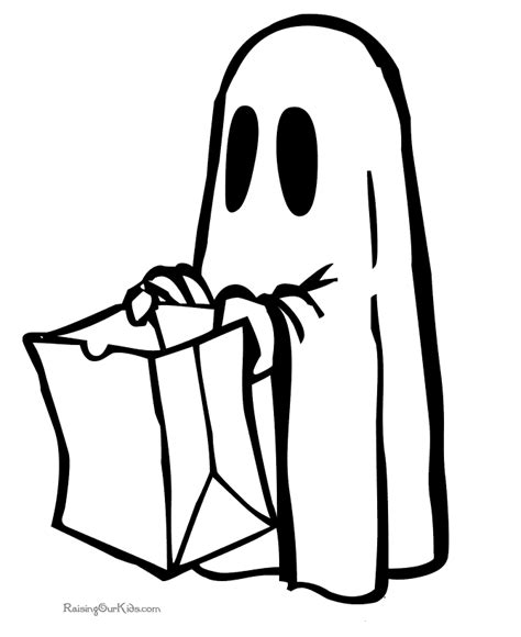 printable ghost preschool halloween coloring pages 006