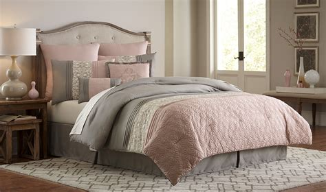 blush bedding sets essential home 8 piece comforter set blush clover home