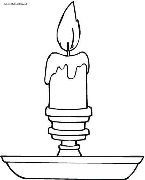 Candlestick Coloring Page Www Sd Ram Us Pinterest Candles Coloring Pages