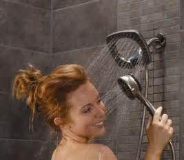 two shower heads in one shower shower with held shower in2ition by alsons