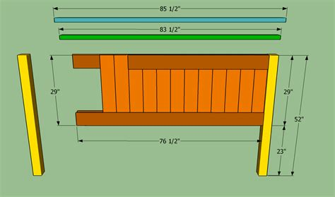 How To Make A Size Headboard by King Size Bed Frame With Headboard Plans Furnitureplans