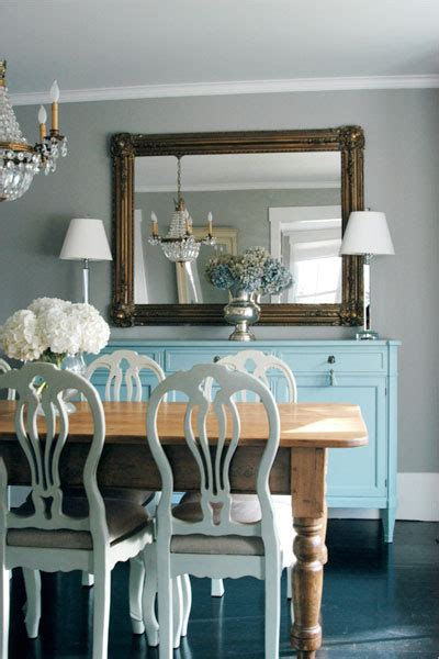 Ralph Lauren Fabrics For Home Decorating by Turquoise Blue Sideboard Transitional Dining Room